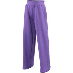 Vêtements Enfant Pantalons de survêtement Awdis JH71J Pourpre