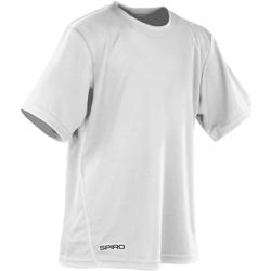 Vêtements Garçon T-shirts manches courtes Spiro S253J Blanc