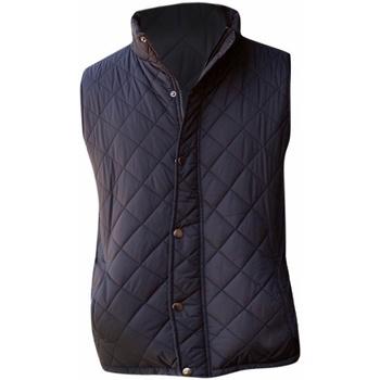 Vêtements Homme Gilets / Cardigans Front Row Diamond Pattern Noir