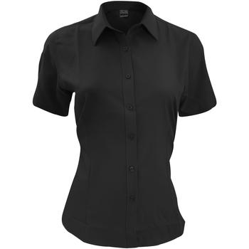 Vêtements Homme Chemises manches courtes Henbury HB596 Noir