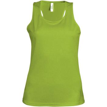 Vêtements Femme Débardeurs / T-shirts sans manche Kariban Proact Proact Vert citron