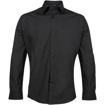 Vêtements Homme Chemises manches longues Premier Poplin Noir