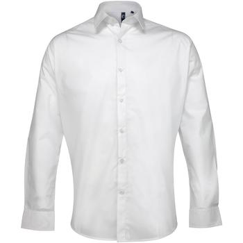 Vêtements Homme Chemises manches longues Premier Poplin Blanc