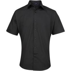 Vêtements Homme Chemises manches courtes Premier PR209 Noir