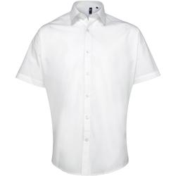 Vêtements Homme Chemises manches courtes Premier PR209 Blanc