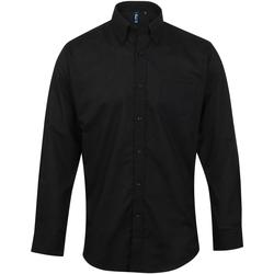 Vêtements Homme Chemises manches longues Premier Oxford Noir