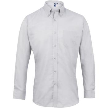 Vêtements Homme Chemises manches longues Premier PR234 Argent
