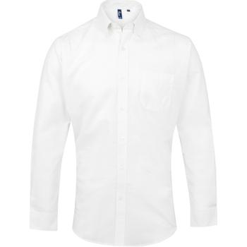 Vêtements Homme Chemises manches longues Premier PR234 Blanc