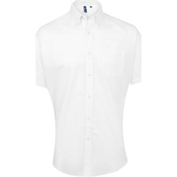 Vêtements Homme Chemises manches courtes Premier Oxford Blanc