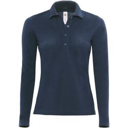 Vêtements Femme Polos manches longues B And C B370L Bleu marine