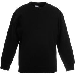 Vêtements Enfant Sweats Fruit Of The Loom 62031 Noir