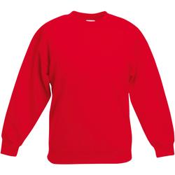 Vêtements Enfant Sweats Fruit Of The Loom Classics Rouge