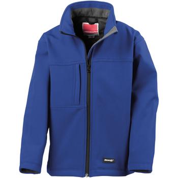 Vêtements Garçon Blousons Result Softshell Bleu roi