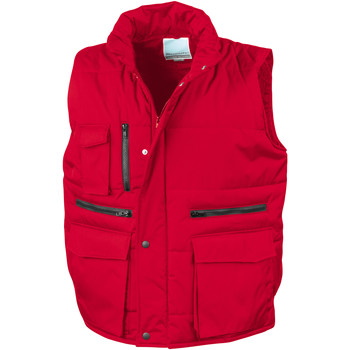 Vêtements Homme Gilets / Cardigans Result Showerproof Rouge