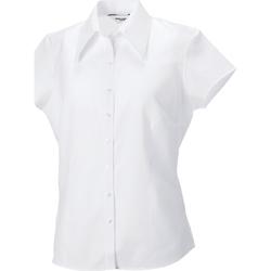 Vêtements Femme Chemises / Chemisiers Russell Collection Chemisier ajusté à manches courtes RW3271 Blanc