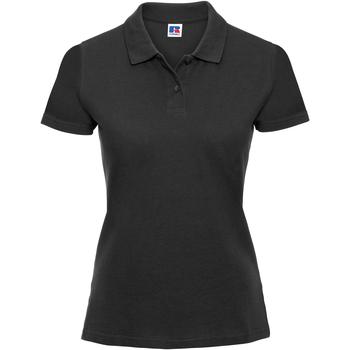 Vêtements Femme Polos manches courtes Russell Polo 100% coton à manches courtes RW3279 Noir