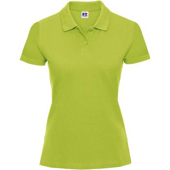 Vêtements Femme Polos manches courtes Russell Polo 100% coton à manches courtes RW3279 Vert citron