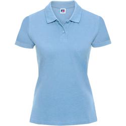 Vêtements Femme Polos manches courtes Russell Polo 100% coton à manches courtes RW3279 Bleu ciel