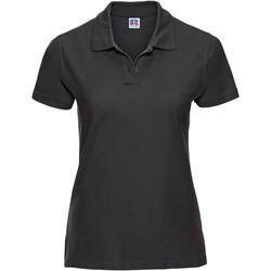 Vêtements Femme Polos manches courtes Russell Polo 100% coton à manches courtes RW3281 Noir