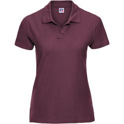 Vêtements Femme Polos manches courtes Russell Polo 100% coton à manches courtes RW3281 Bordeaux