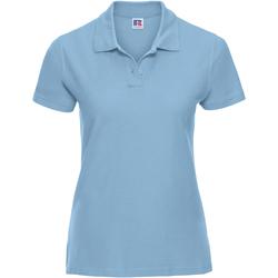 Vêtements Femme Polos manches courtes Russell Polo 100% coton à manches courtes RW3281 Bleu ciel
