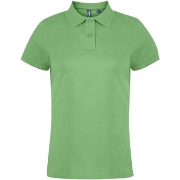 Vêtements Femme Polos manches courtes Asquith & Fox  Vert citron