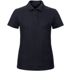 Vêtements Femme Polos manches courtes B And C ID.001 Bleu marine