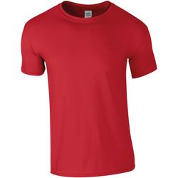 Vêtements Homme T-shirts manches courtes Gildan Soft-Style Rouge