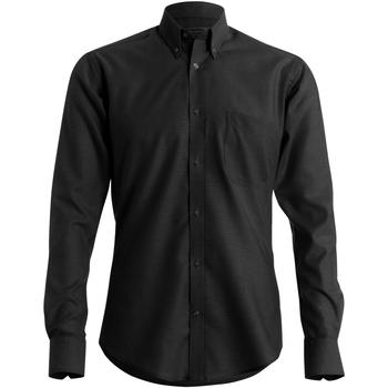 Vêtements Homme Chemises manches longues Kustom Kit KK184 Noir