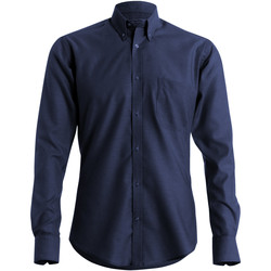 Vêtements Homme Chemises manches longues Kustom Kit KK184 Bleu marine