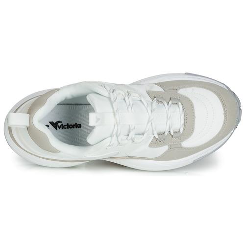 Aire Femme Baskets Nylon serraje Victoria Pu Blanc Chaussures Basses 2YDE9WHI