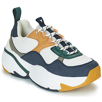 Chaussures Femme Baskets basses Victoria SNEAKER MALLA/MULTIMATERIAL Blanc / Marine