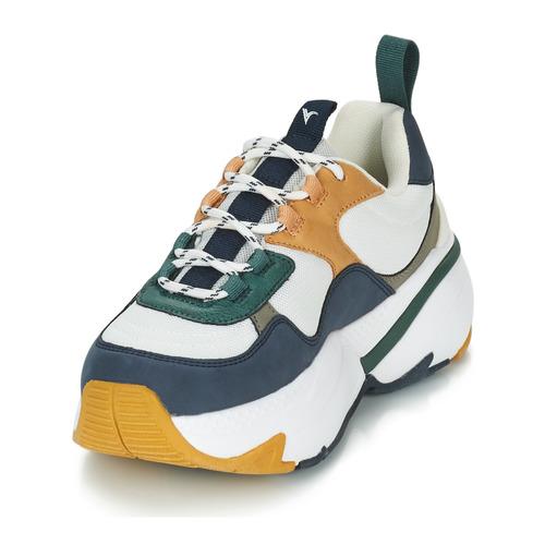 Femme Malla Sneaker multimaterial Basses BlancMarine Victoria Baskets bfgy7Y6