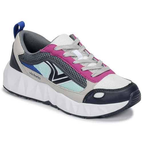newest 6dd47 0ab43 Chaussures Femme Baskets basses Victoria ARISTA MULTICOLOR Blanc  Rose