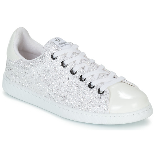 Chaussures Femme Baskets basses Victoria TENIS GLITTER Blanc