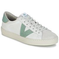 Chaussures Homme Baskets basses Victoria BERLIN PIEL CONTRASTE Blanc / Vert