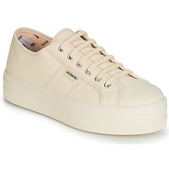 65892a010f145 Chaussures Femme Baskets basses Victoria BARCELONA LONA MONOCROMO Beige