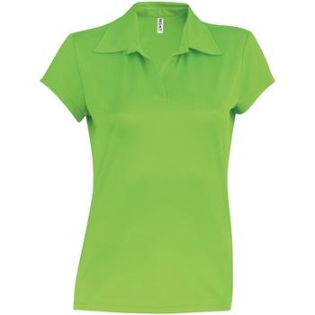 Vêtements Femme Polos manches courtes Kariban Proact Performance Vert citron