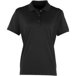 Vêtements Femme Polos manches courtes Premier PR616 Noir