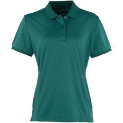Vêtements Femme Polos manches courtes Premier Coolchecker Vert bouteille