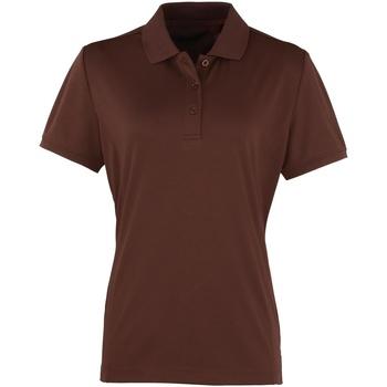 Vêtements Femme Polos manches courtes Premier Coolchecker Marron