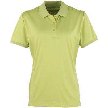 Vêtements Femme Polos manches courtes Premier Coolchecker Vert citron