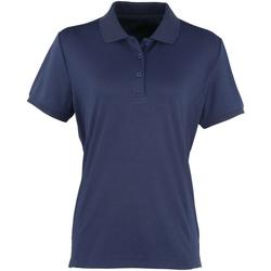 Vêtements Femme Polos manches courtes Premier Coolchecker Bleu marine
