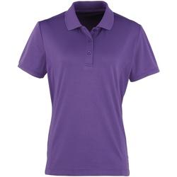 Vêtements Femme Polos manches courtes Premier PR616 Pourpre