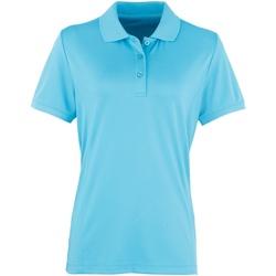 Vêtements Femme Polos manches courtes Premier PR616 Turquoise