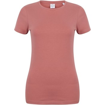 Vêtements Femme T-shirts manches courtes Skinni Fit Stretch Argile