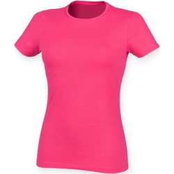 Vêtements Femme T-shirts manches courtes Skinni Fit Stretch Fuchsia