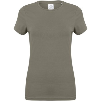 Vêtements Femme T-shirts manches courtes Skinni Fit Stretch Kaki