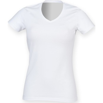 Vêtements Femme Musse & Cloud Skinni Fit Stretch Blanc