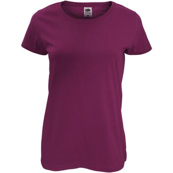 Vêtements Femme T-shirts manches courtes Fruit Of The Loom Original Bordeaux